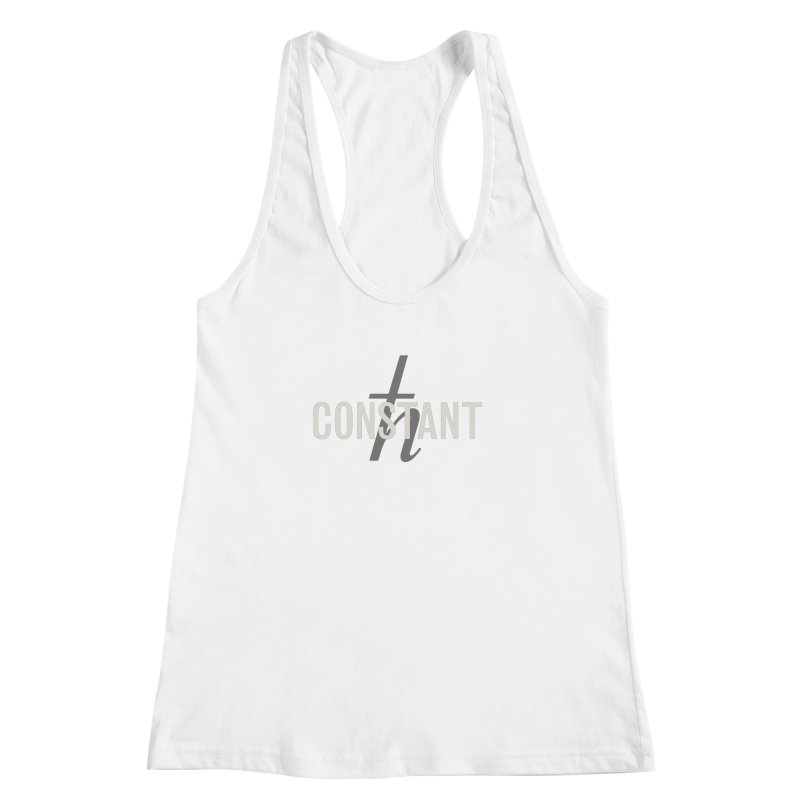 Constant Grayscale Women's Racerback Tank by Variable Tees