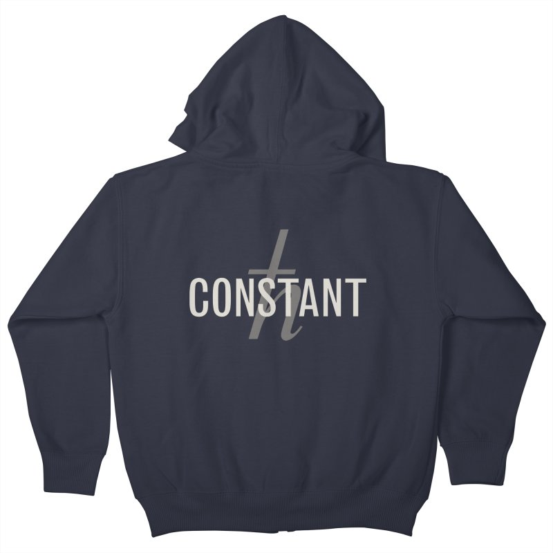 Constant Grayscale Kids Zip-Up Hoody by Variable Tees