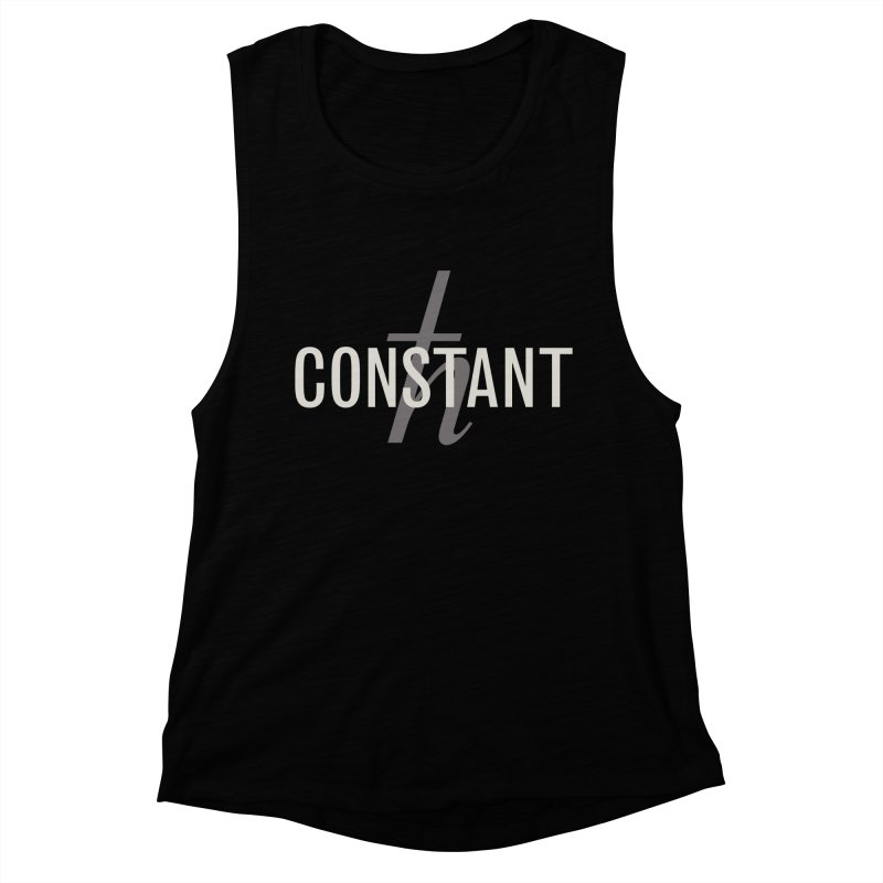 Constant Grayscale Women's Muscle Tank by Variable Tees