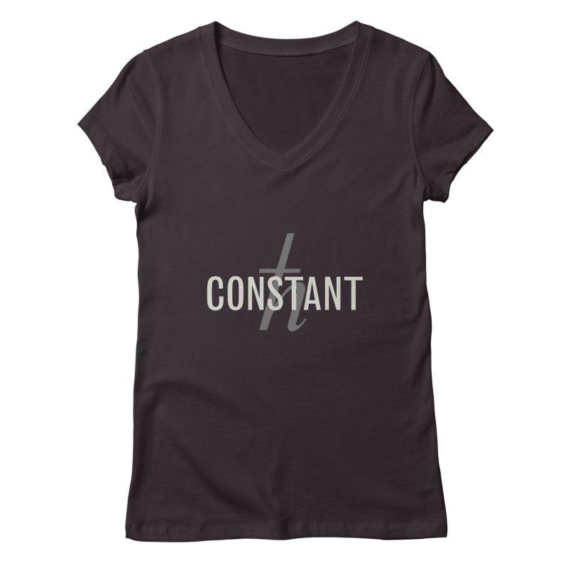 Constant Minimum Women's Regular V-Neck by Variable Tees