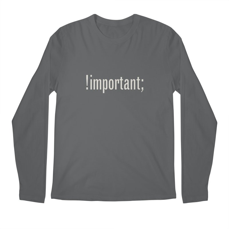 !important; Minimum Men's Regular Longsleeve T-Shirt by Variable Tees