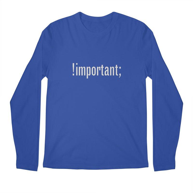 !important; Minimum Men's Regular Longsleeve T-Shirt by Variable Tees