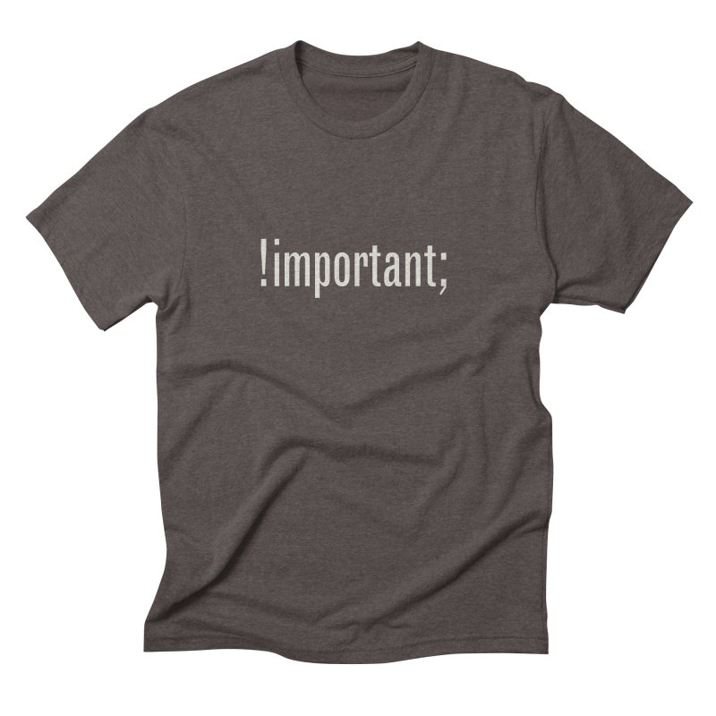 !important; Minimum Men's Triblend T-Shirt by Variable Tees