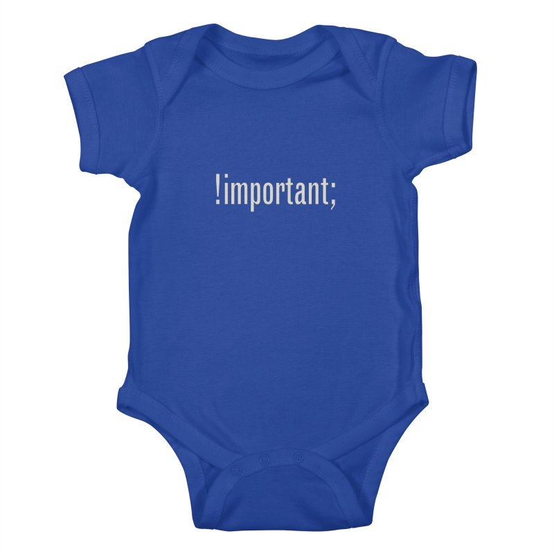 !important; Minimum Kids Baby Bodysuit by Variable Tees