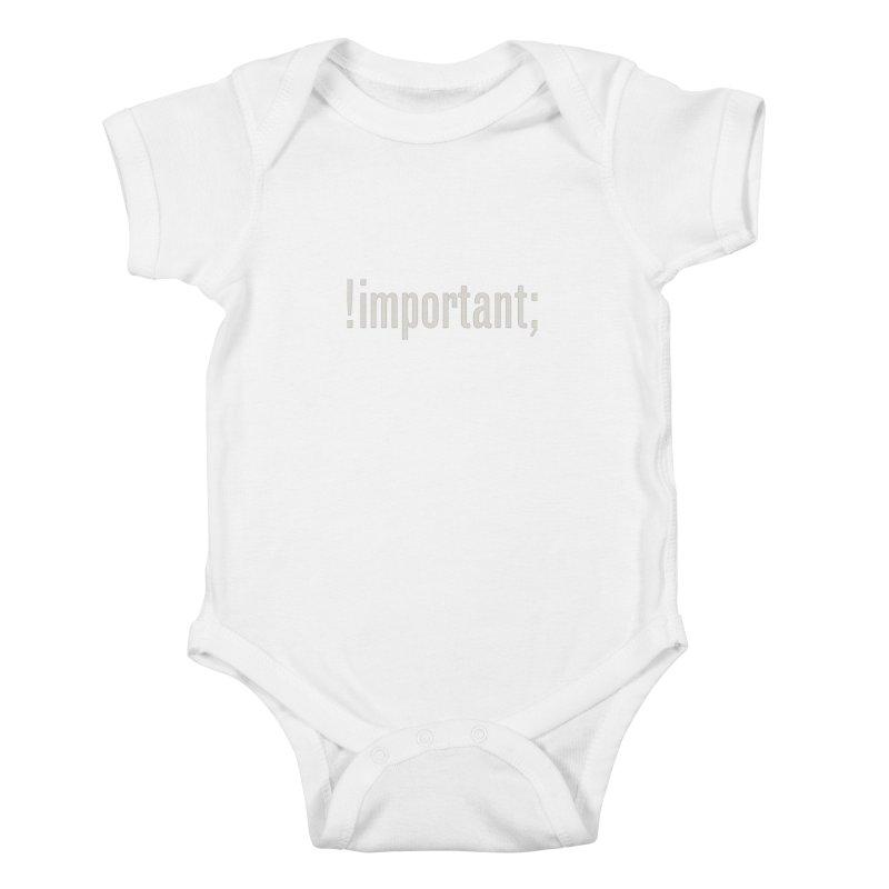 !important; Minimum Kids Baby Bodysuit by Variable Tees