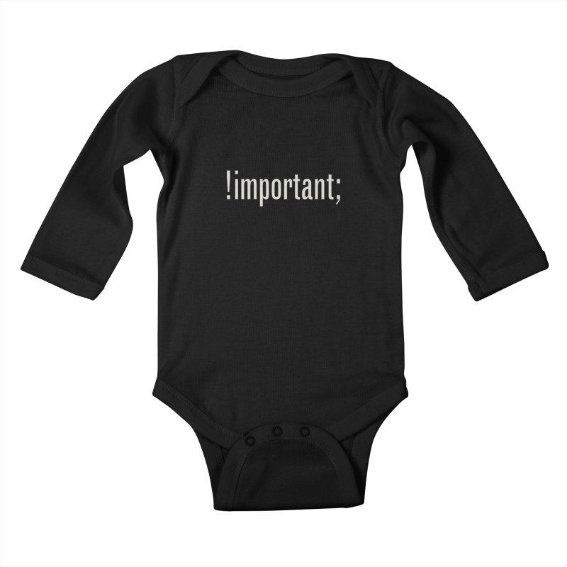 !important; Minimum Kids Baby Longsleeve Bodysuit by Variable Tees