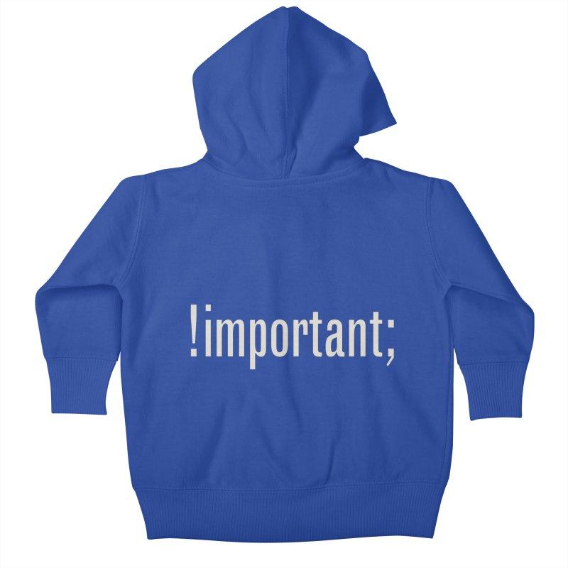 !important; Minimum Kids Baby Zip-Up Hoody by Variable Tees
