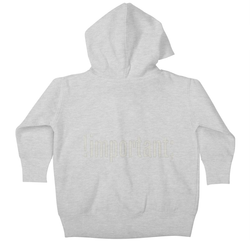 !important; Minimum Kids Baby Zip-Up Hoody by Variable Tees