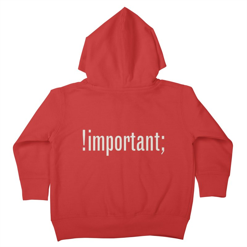 !important; Minimum Kids Toddler Zip-Up Hoody by Variable Tees