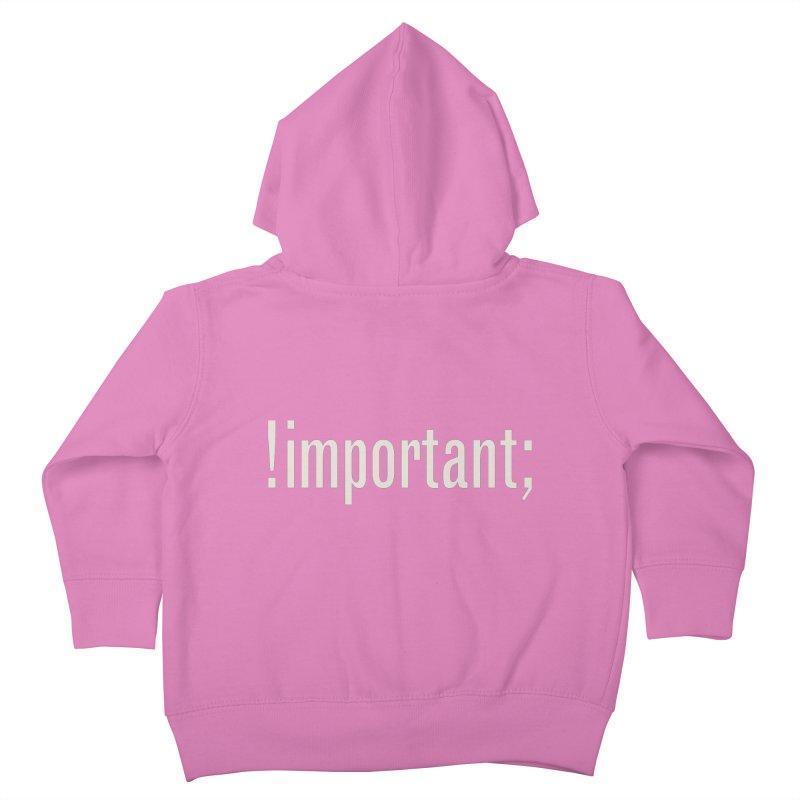 !important; Minimum Kids Toddler Zip-Up Hoody by Variable Tees