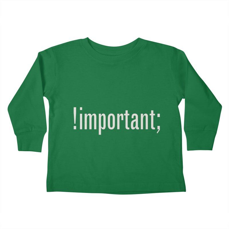 !important; Minimum Kids Toddler Longsleeve T-Shirt by Variable Tees