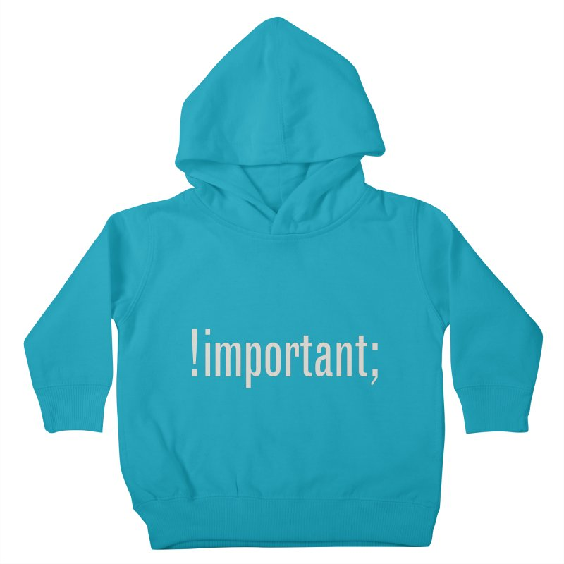 !important; Minimum Kids Toddler Pullover Hoody by Variable Tees