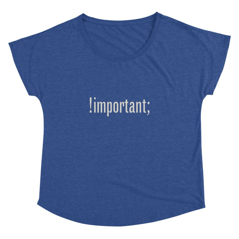 !important; Minimum Women's Dolman Scoop Neck by Variable Tees