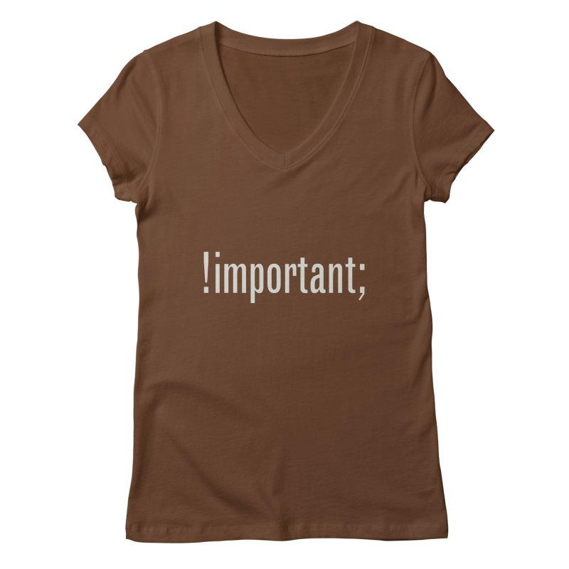 !important; Minimum Women's Regular V-Neck by Variable Tees