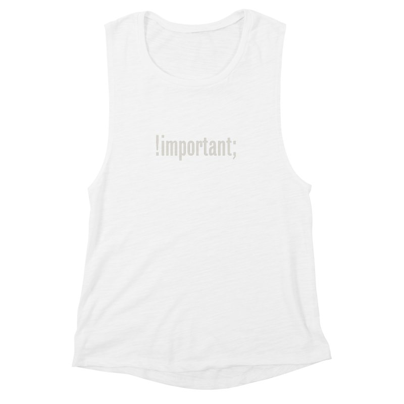 !important; Minimum Women's Muscle Tank by Variable Tees