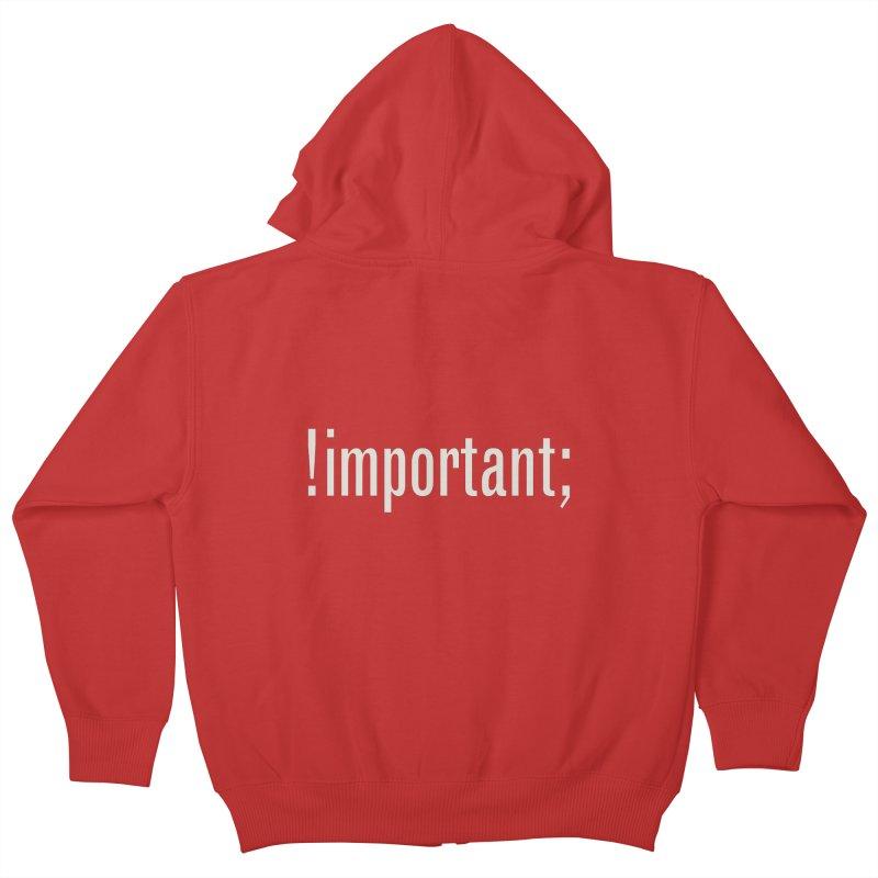 !important; Minimum Kids Zip-Up Hoody by Variable Tees