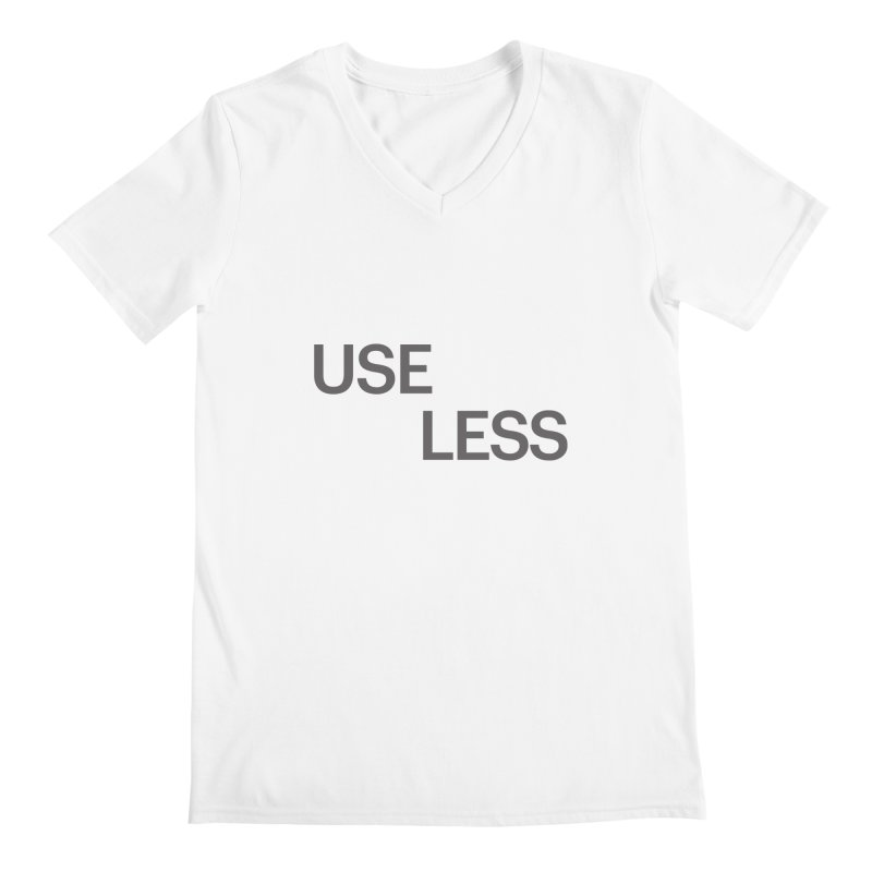 Useless Grayscale Men's V-Neck by Variable Tees