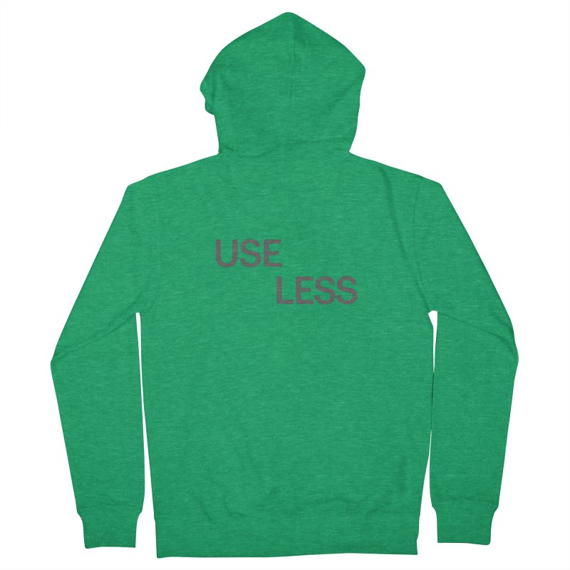 Useless Grayscale Women's French Terry Zip-Up Hoody by Variable Tees