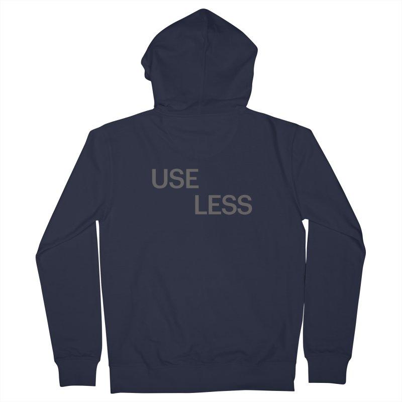 Useless Grayscale Men's Zip-Up Hoody by Variable Tees
