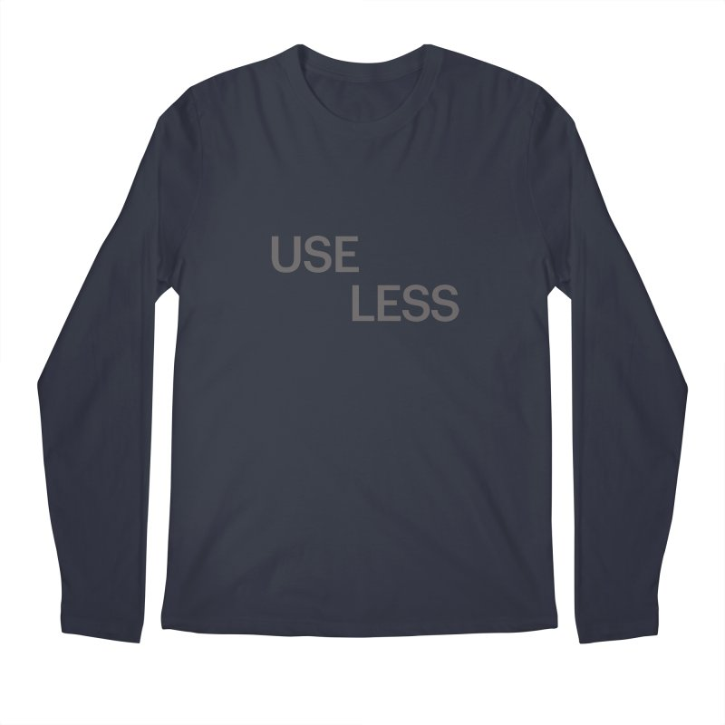 Useless Grayscale Men's Regular Longsleeve T-Shirt by Variable Tees