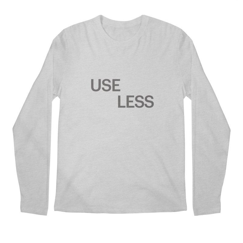 Useless Grayscale Men's Regular Longsleeve T-Shirt by Variable Tees