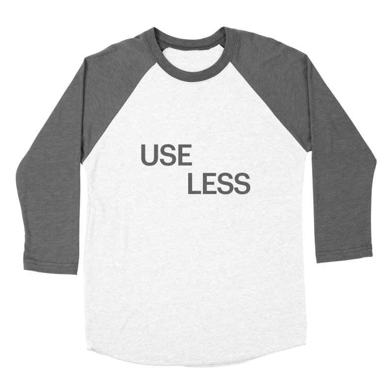 Useless Grayscale Women's Baseball Triblend T-Shirt by Variable Tees