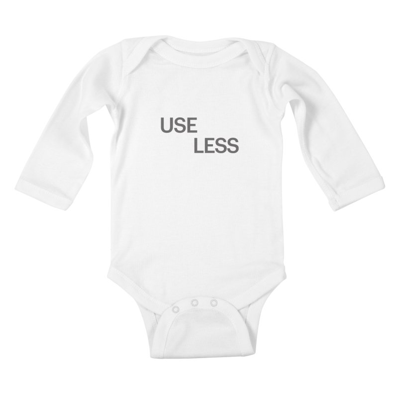 Useless Grayscale Kids Baby Longsleeve Bodysuit by Variable Tees