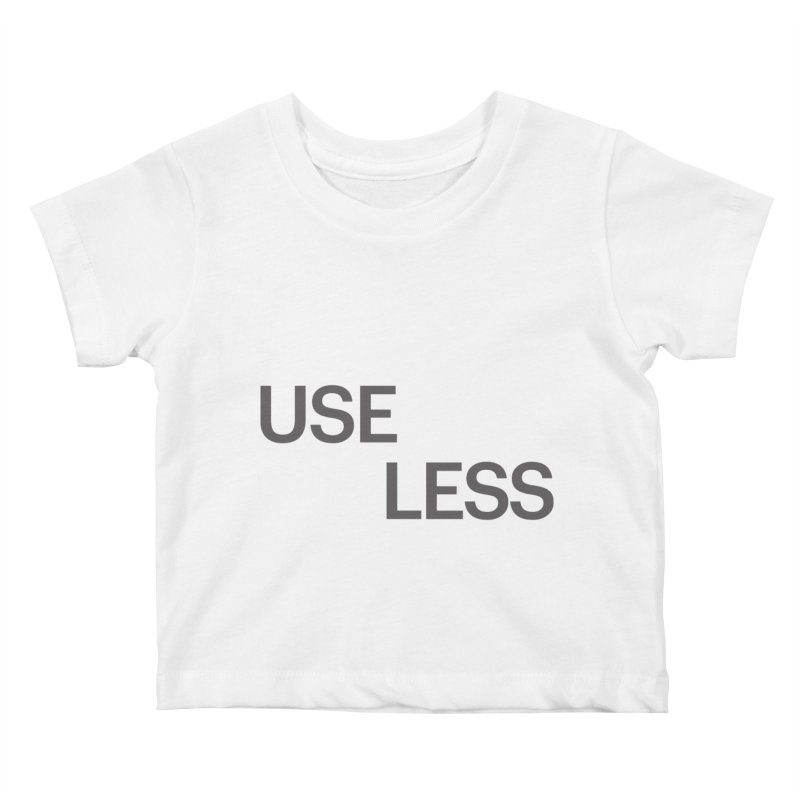 Useless Grayscale Kids Baby T-Shirt by Variable Tees