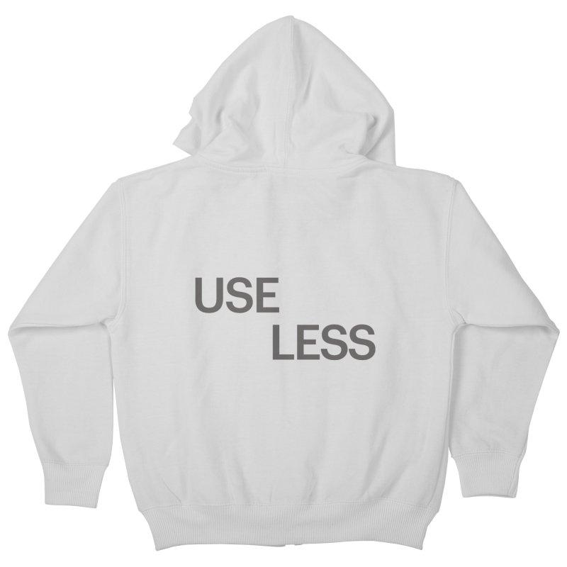 Useless Grayscale Kids Zip-Up Hoody by Variable Tees