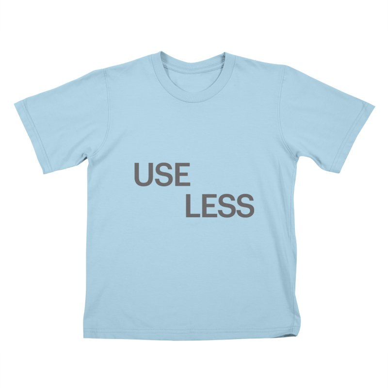 Useless Grayscale Kids T-shirt by Variable Tees