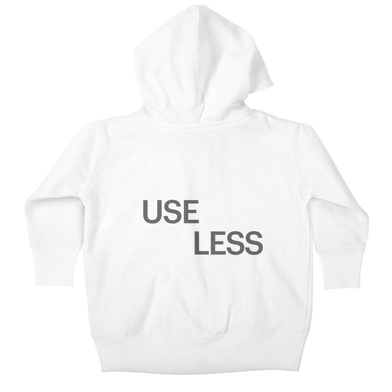 Useless Grayscale Kids Baby Zip-Up Hoody by Variable Tees
