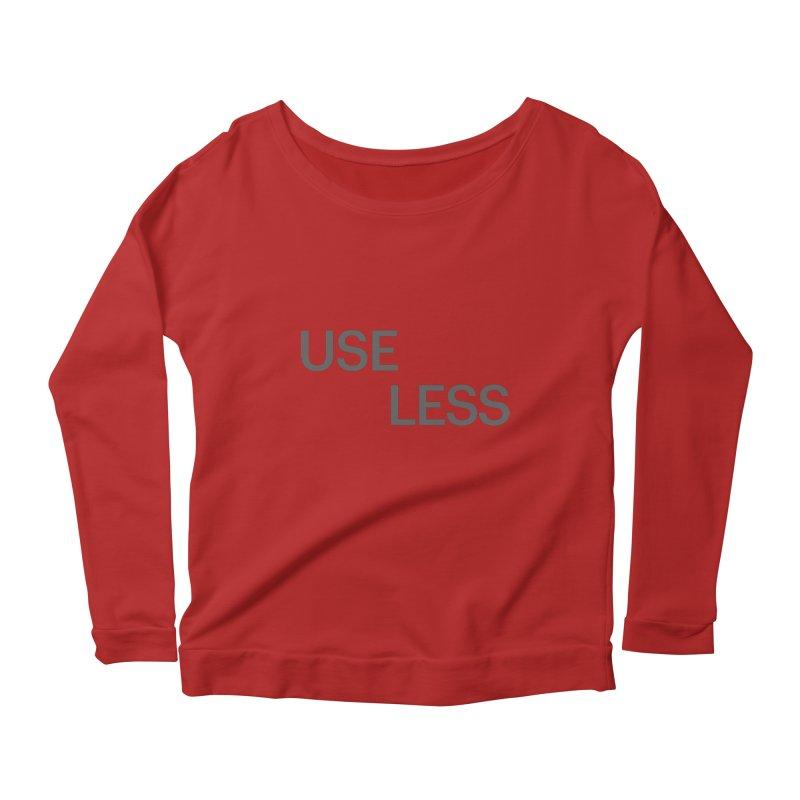 Useless Grayscale Women's Longsleeve Scoopneck  by Variable Tees
