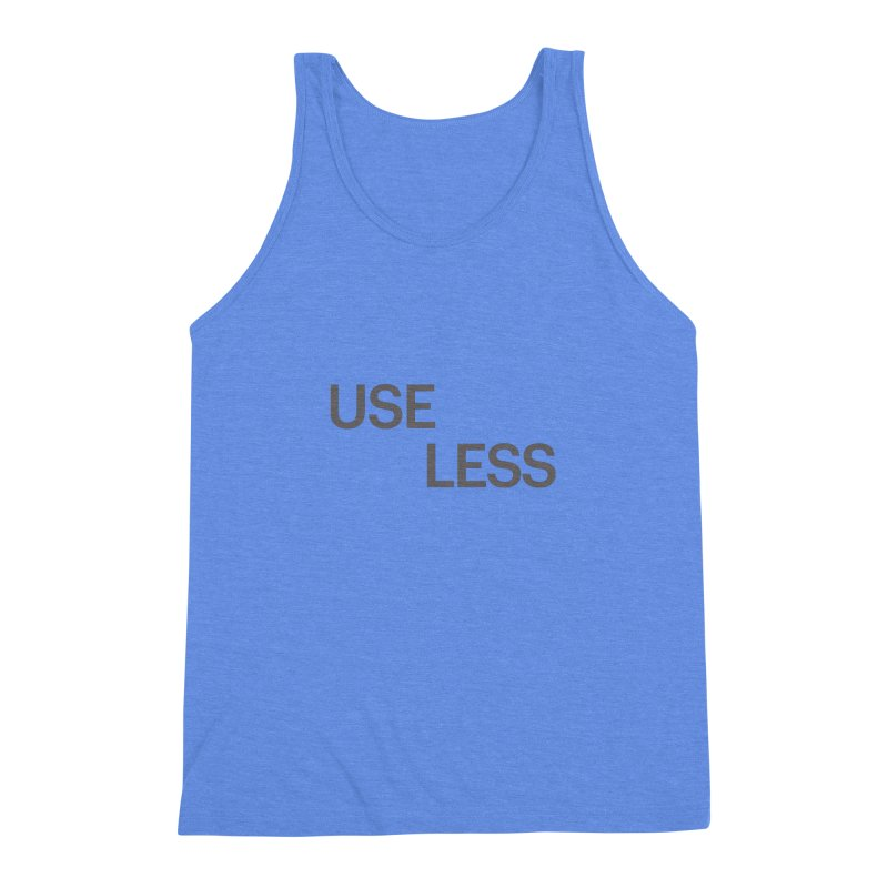 Useless Grayscale Men's Triblend Tank by Variable Tees
