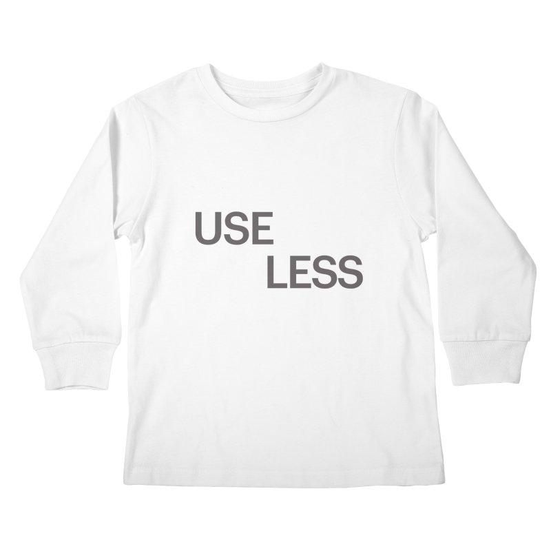 Useless Grayscale Kids Longsleeve T-Shirt by Variable Tees