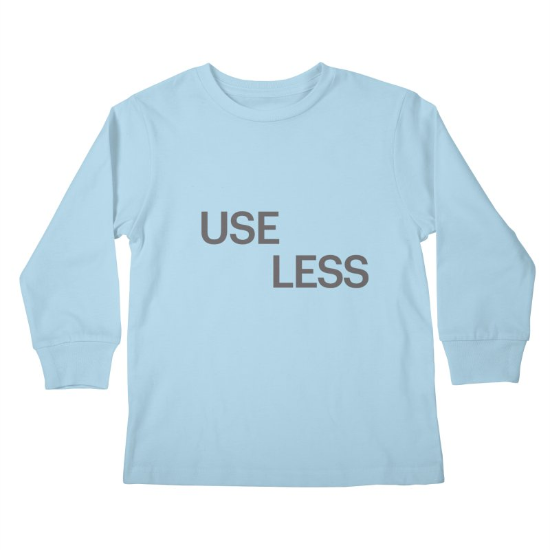 Useless Grayscale Kids Longsleeve T-Shirt by Variable Tees