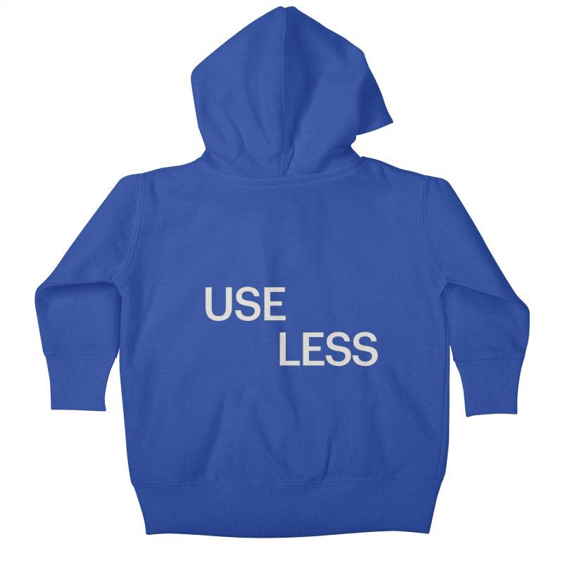 Useless Void Kids Baby Zip-Up Hoody by Variable Tees