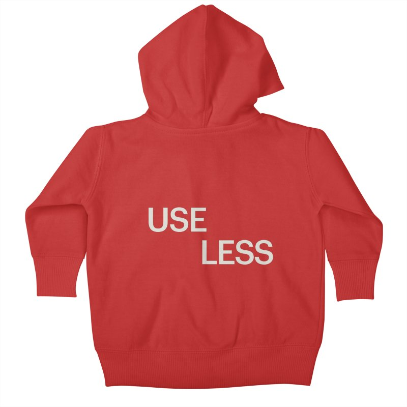 Useless Void Kids Baby Zip-Up Hoody by Variable Tees