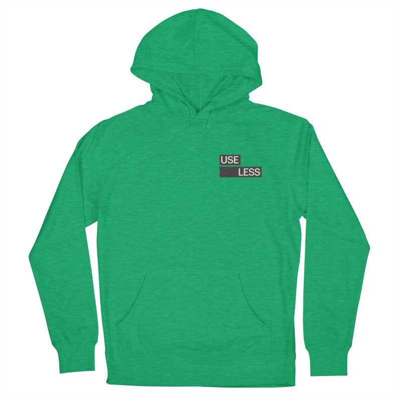 Useless Tag Men's French Terry Pullover Hoody by Variable Tees