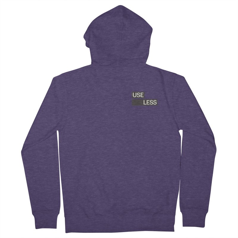 Useless Tag Men's French Terry Zip-Up Hoody by Variable Tees