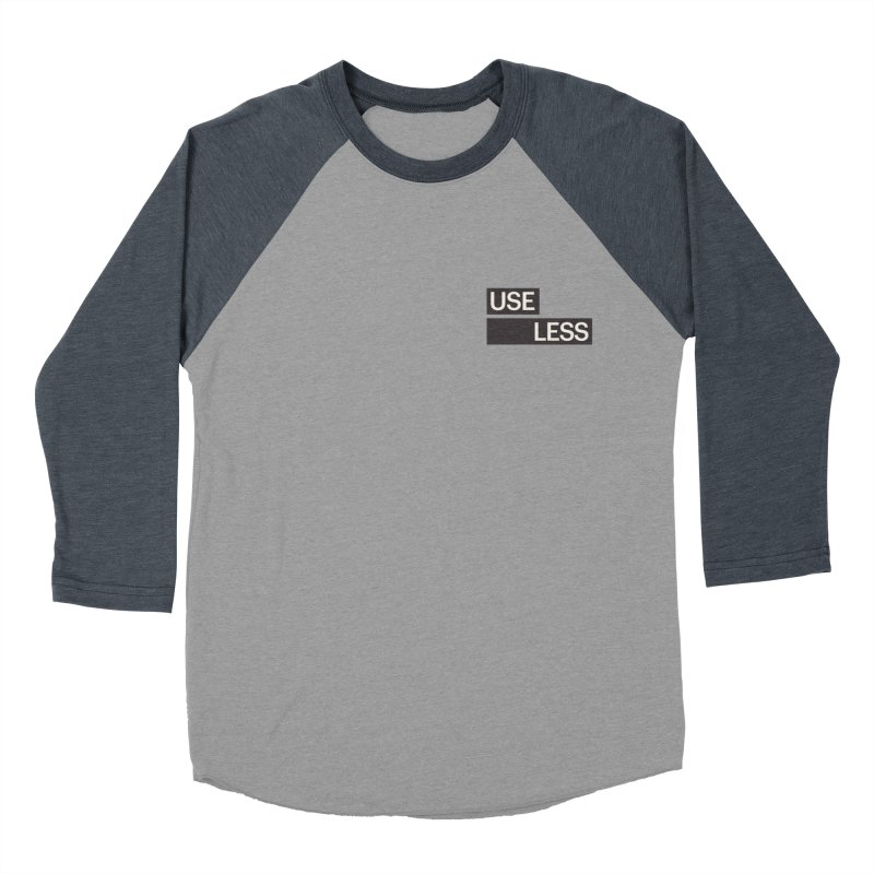 Useless Tag Men's Baseball Triblend Longsleeve T-Shirt by Variable Tees