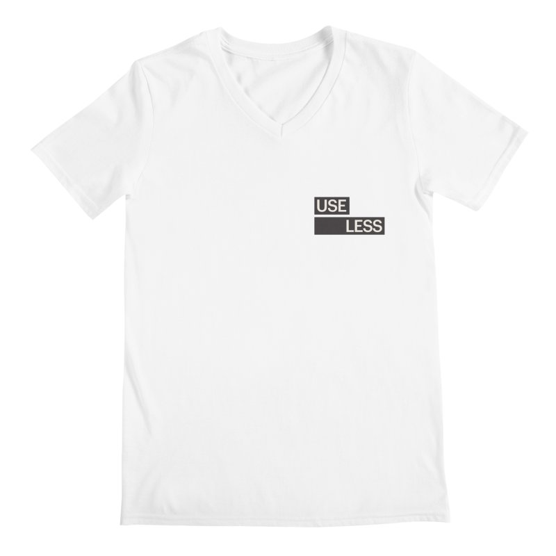 Useless Tag Men's Regular V-Neck by Variable Tees