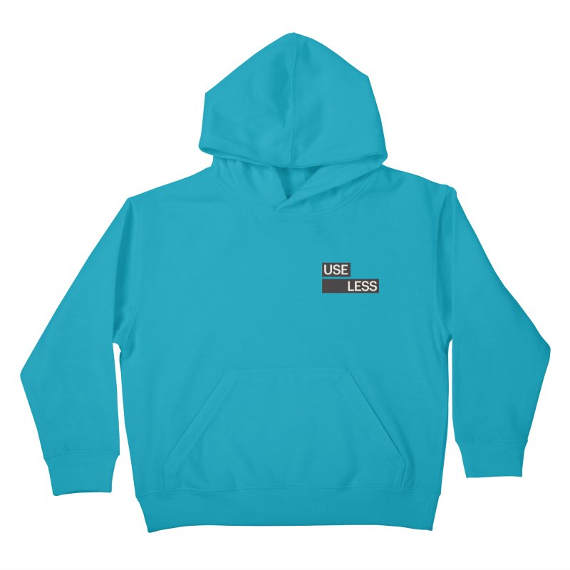 Useless Tag Kids Pullover Hoody by Variable Tees
