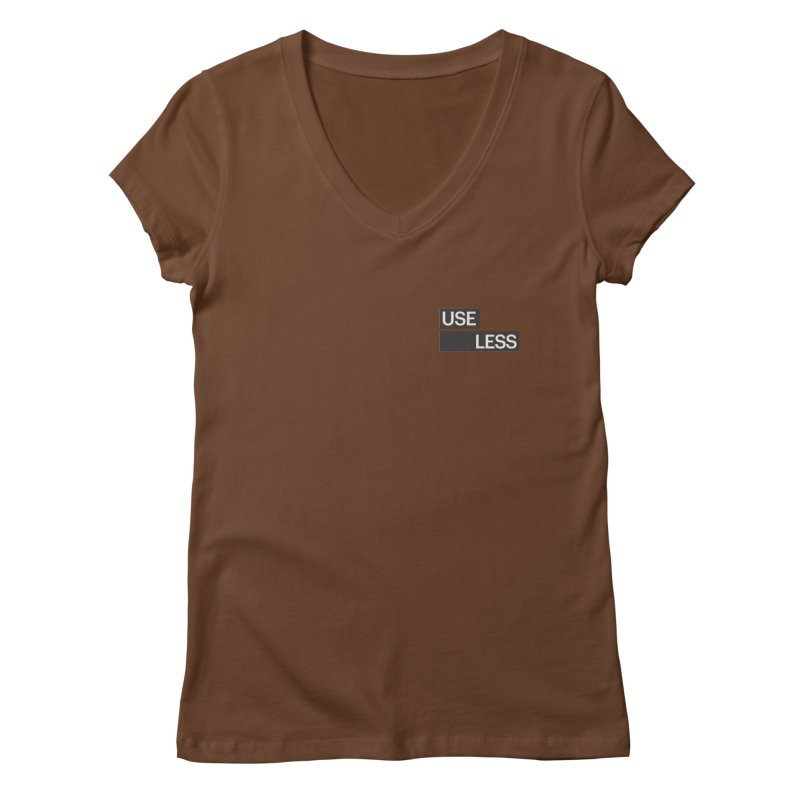 Useless Tag Women's V-Neck by Variable Tees