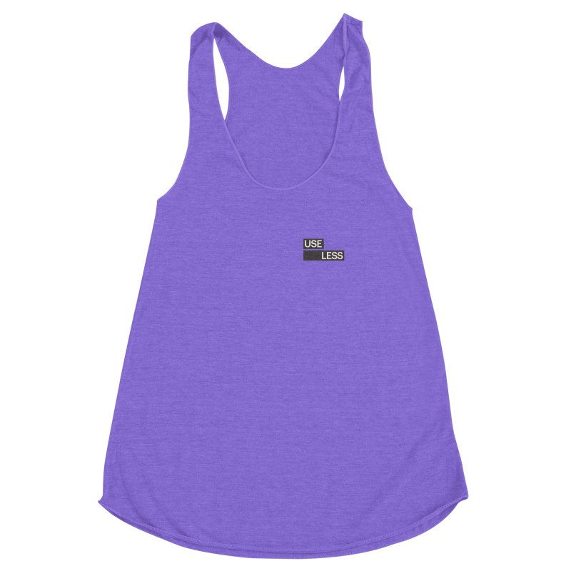 Useless Tag Women's Racerback Triblend Tank by Variable Tees
