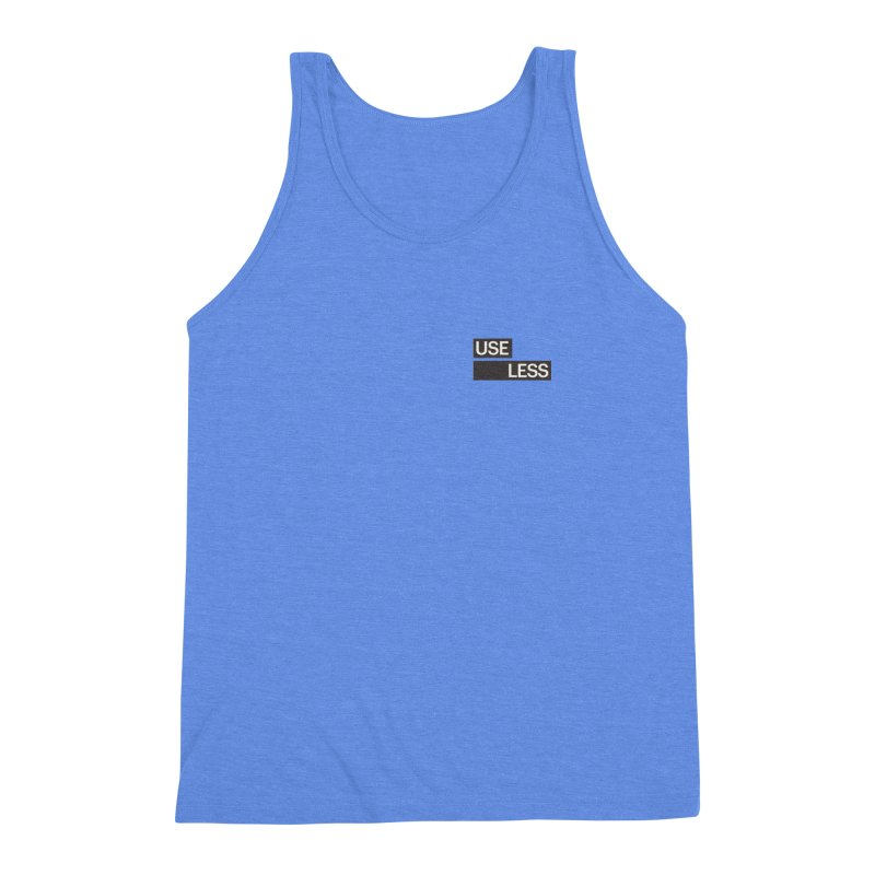 Useless Tag Men's Triblend Tank by Variable Tees