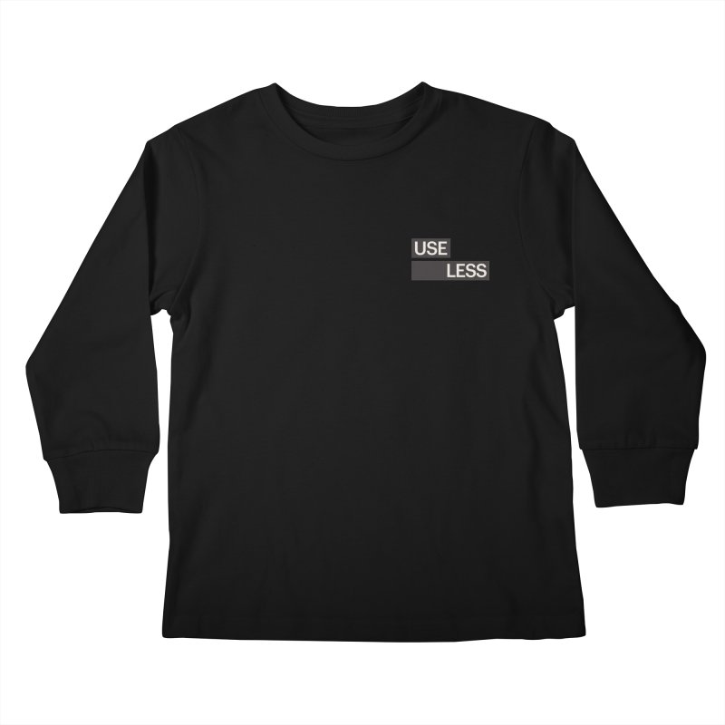 Useless Tag Kids Longsleeve T-Shirt by Variable Tees