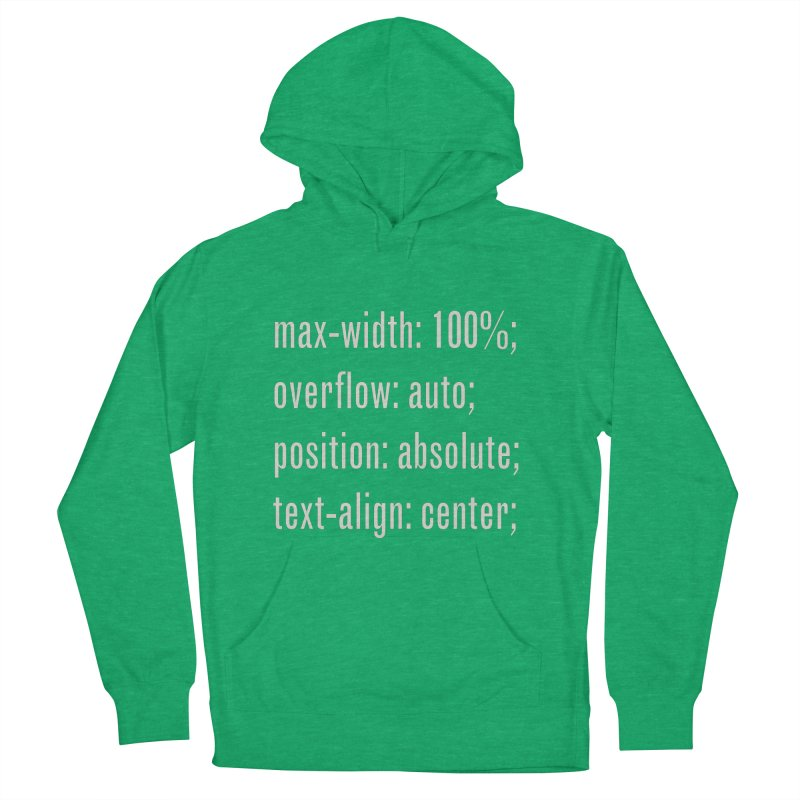 100% Absolute Women's French Terry Pullover Hoody by Variable Tees