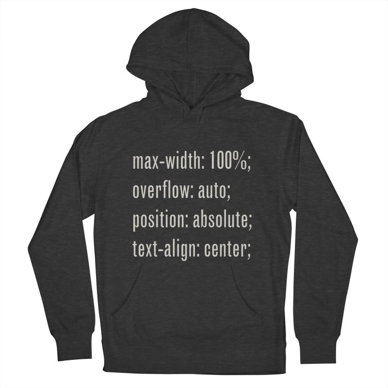 100% Absolute Men's French Terry Pullover Hoody by Variable Tees