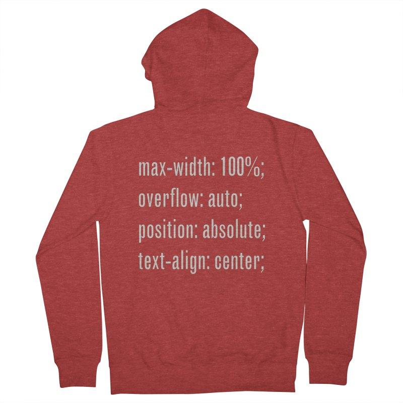 100% Absolute Men's Zip-Up Hoody by Variable Tees