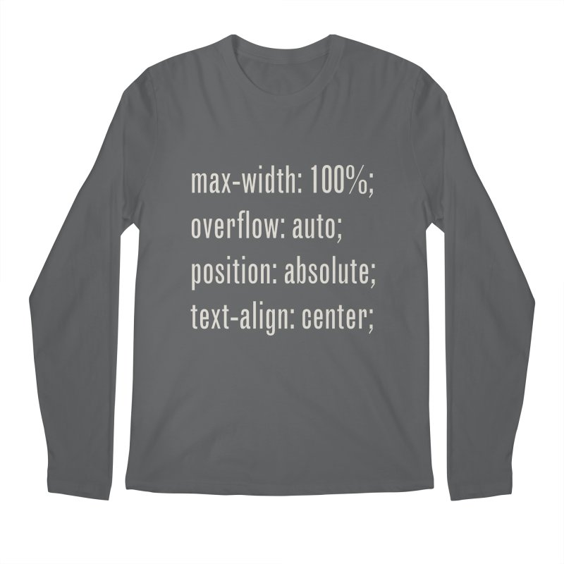 100% Absolute Men's Regular Longsleeve T-Shirt by Variable Tees